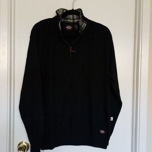 Dickies Mens 1/4 Zip Sweater